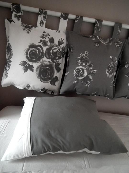diy zagłówek do łóżka z materiału