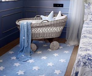 dywan niebieski w gwiazdk