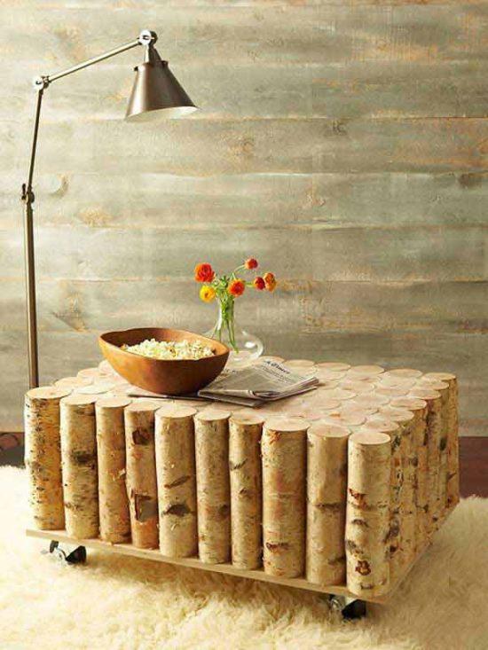 stolik brzoza diy