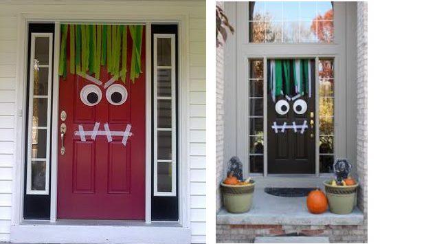 Halloween drzwi dekoracje