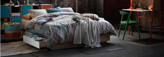 Ikea inspiracje do sypialni
