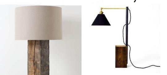 diy lampa drewniana