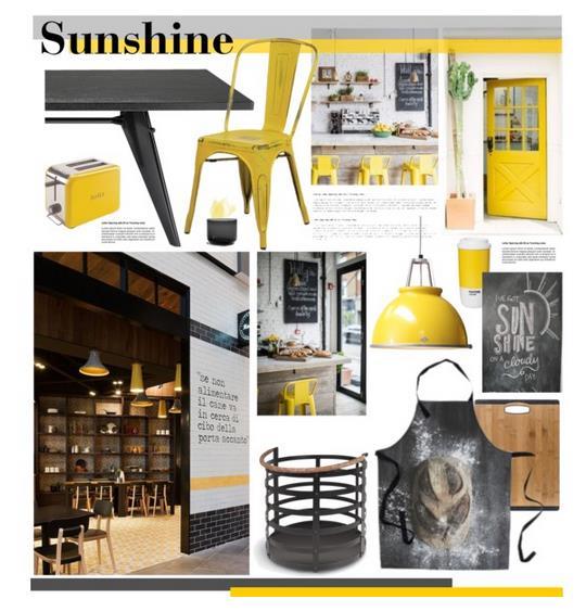 żółty we wnętrzach